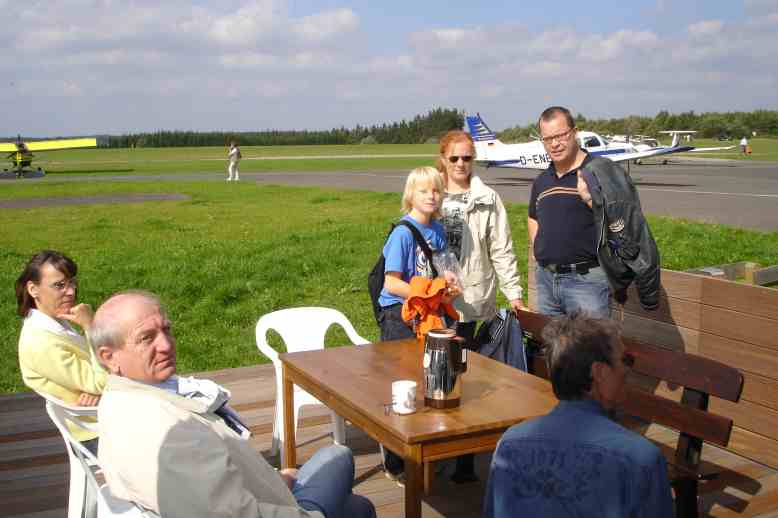 Kaffepause am Clubheim