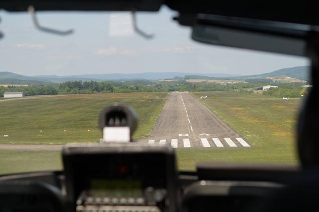 Motorflug-Anflug auf Trier Föhren