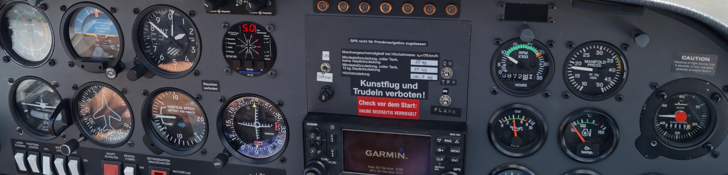 Cockpit Motorsegler
