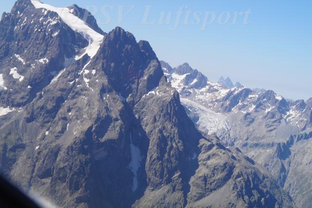 Aussicht auf den Glacier Blanc